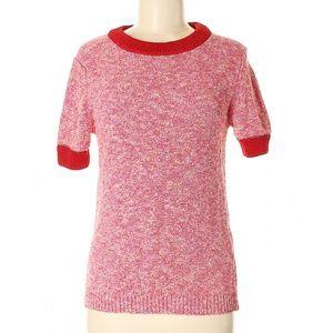 $138 Uterque Pullover Knit Rib Retro Sweater M